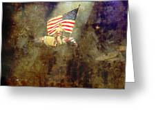 Circus Usa Flag Greeting Card