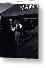 Circus World Homage  Clown J.a. Strong Traveling Circus Along The Us/mexico Border Bisbee Az Naco  Greeting Card