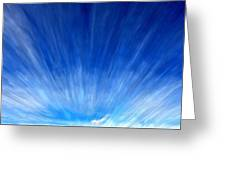 Cirrus Clouds In Perspective Greeting Card