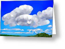 Cumulus Impressionism Greeting Card