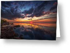 Cirrus Reflections Greeting Card by Stuart Deacon