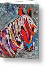 Cisco Abstract Horse  Greeting Card