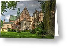 Cistercian Church From 12th And 13th Century In Wachock In Poland Greeting Card