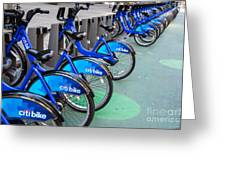 Citibike Rentals Nyc Greeting Card