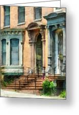 Cities - Albany Ny Brownstone Greeting Card