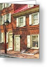 Cities - Philadelphia Brownstone Greeting Card