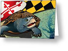 Citizen Terrapin Maryland's Turtle Greeting Card