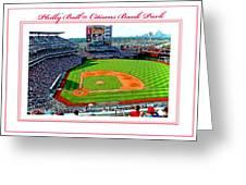 Citizens Bank Park Phillies Baseball Poster Image Greeting Card