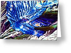 Citric Acid Microcrystals Abstract Color Art Greeting Card