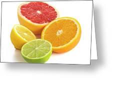 Citrus Fruit Halves Greeting Card