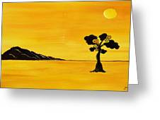 Citrus Sunset Greeting Card