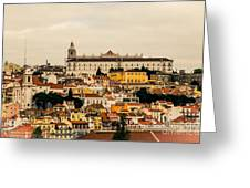 City And Cathedral Lisbon Portugal Greeting Card