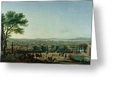 City And Port Of Toulon, 1756 Oil On Canvas Greeting Card