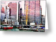 City And Water Greeting Card