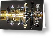 City Approach Panoramic Greeting Card