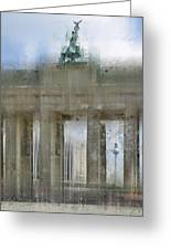 City-art Berlin Brandenburg Gate Greeting Card