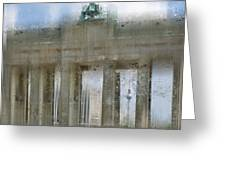 City-art Berlin Brandenburg Gate Greeting Card
