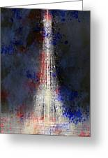 City-art Paris Eiffel Tower In National Colours Greeting Card