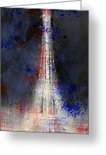 City-art Paris Eiffel Tower In National Colours Greeting Card by Melanie Viola