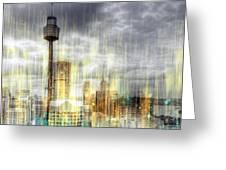 City-art Sydney Rainfall Greeting Card