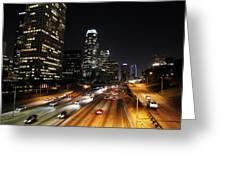City At Night - Los Angeles Greeting Card