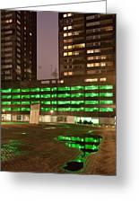 City At Night Urban Abstract Greeting Card