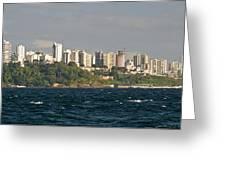 City At The Waterfront, Salvador Greeting Card