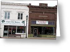 City Bakery In Clare Michigan Greeting Card