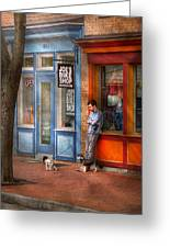 City - Baltimore Md - Waiting By Joe's Bike Shop  Greeting Card