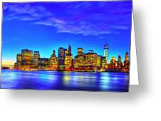 City Blue Greeting Card