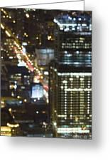 City Blur Greeting Card