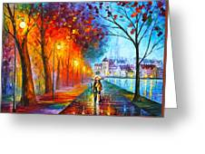 City By The Lake Greeting Card