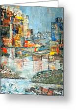 City By The River - Sold Greeting Card