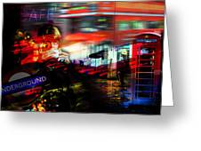 London City Cafe Culture Greeting Card
