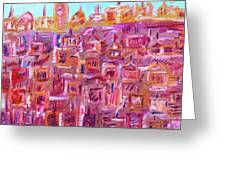 City Candles Greeting Card
