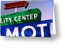 City Center Motel Greeting Card by Gail Lawnicki