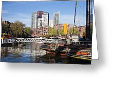 City Centre Of Rotterdam In Netherlands Greeting Card