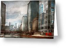 City - Chicago Il -  Building A New City Greeting Card