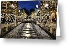 City Creek Fountain - 2 Greeting Card