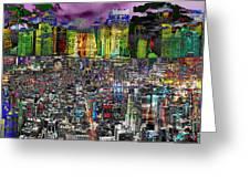 City Dawn Art Cityscape  Greeting Card