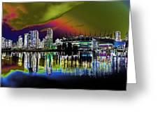 City Fantasy Greeting Card