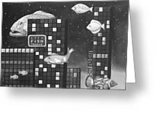 City Fish Edit 3 Greeting Card
