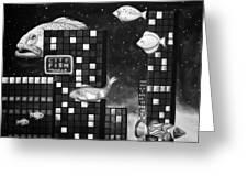 City Fish Edit 4 Greeting Card