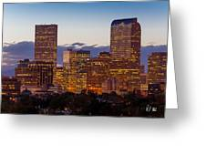 City Glow Greeting Card