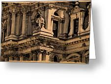 City Hall Closeup Greeting Card