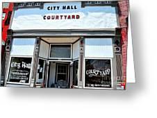 City Hall Courtyard Greeting Card
