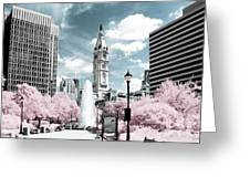 City Hall In Spring Greeting Card