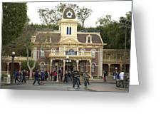 City Hall Main Street Disneyland Greeting Card