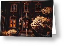 City Hall Neon Greeting Card