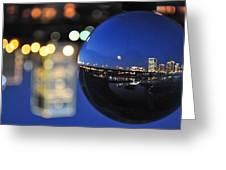 City In A Globe Greeting Card